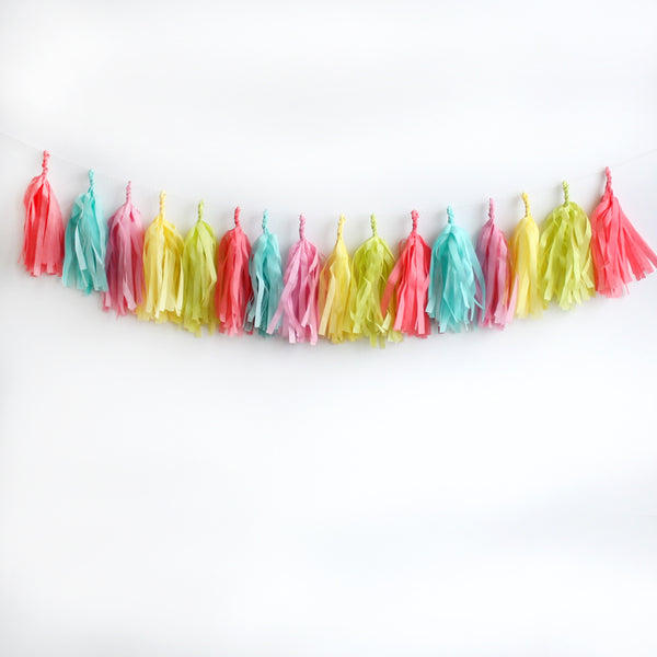 Spring Brights Tassel Garland Kit or Fully Assembled