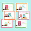 Printable Owl Favor/Treat Bag Toppers- Summer Days Owl Collection by Wants and Wishes