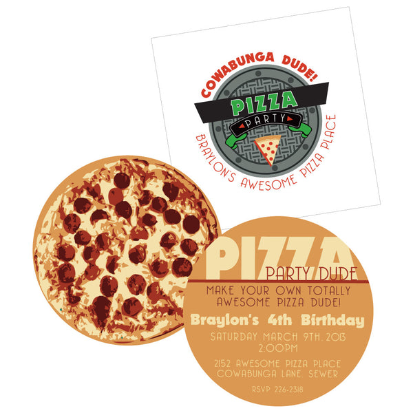 Teenage Mutant Ninja Turtles-printable Pizza Invite