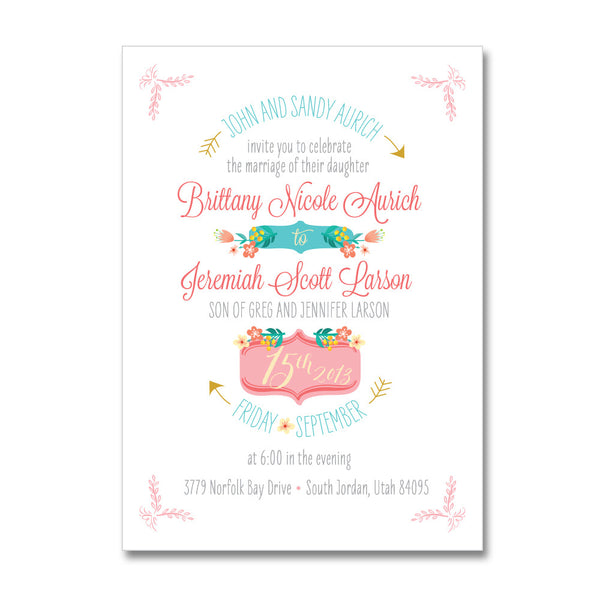 Tip Toe Through the Garden Wedding Invitations