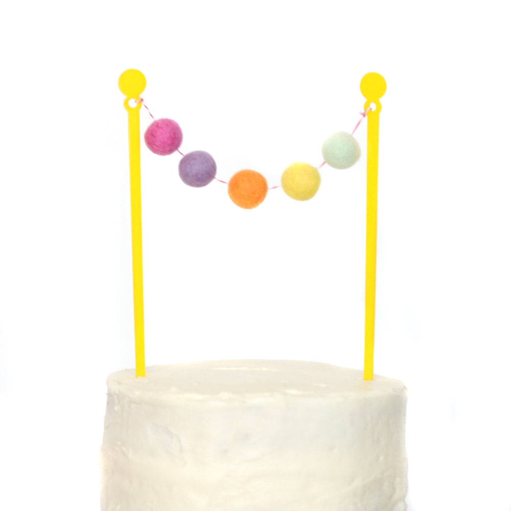 Rainbow Unicorn Cake Bunting Topper