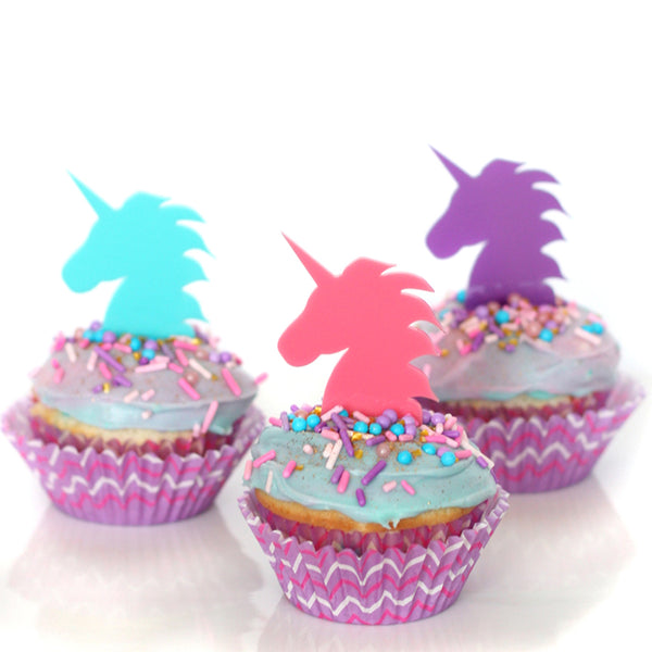 Purple Unicorn Cupcake Topper