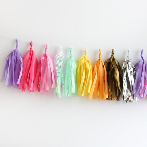 Unicorn Fringe Tassel Garland Kit