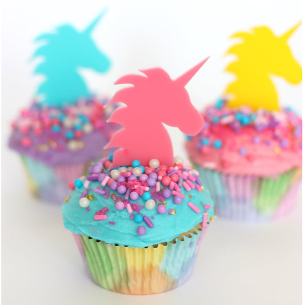 Rainbow Unicorn Cupcake Topper