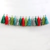 Vintage Christmas Fringe Tassel Garland Kit or Fully Assembled