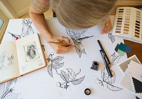 ART SCHOOL FRIENDS LAUNCH NATURE-INSPIRED WALLPAPER