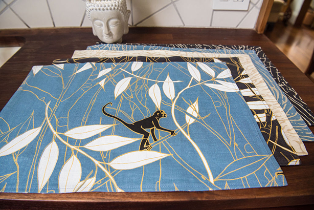 Spider Monkey - Monkeys Before Dawn - 1 set of 4 placemats