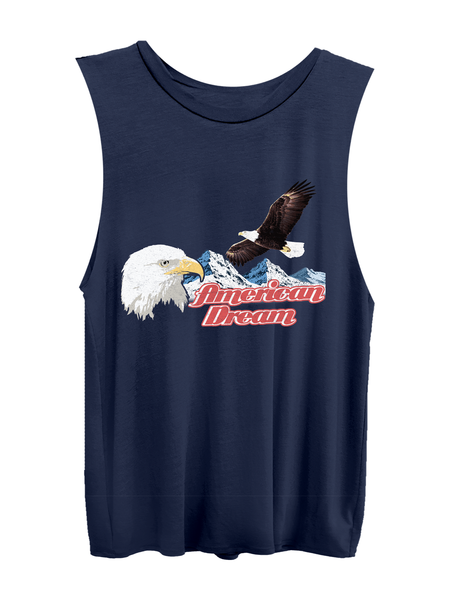 Patriotic American Dream Navy Muscle