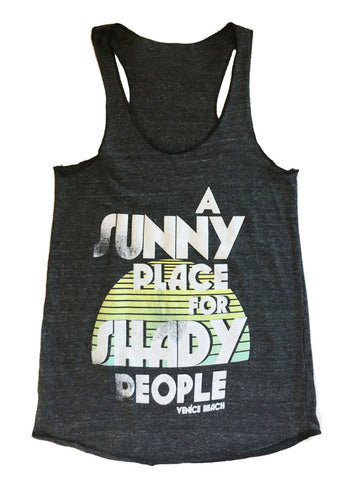 Abbot Kinney Fest - Shady People - Womens Razor Back Tank
