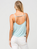 4th & Rose Sunkissed Lips Mint Strap Crop Tank