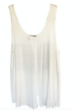 4th & Rose Daisy Flag White Open Back Tank
