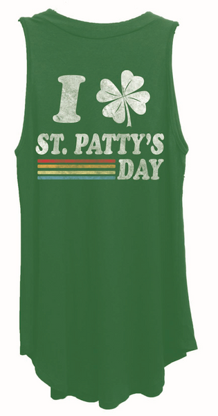 4th & Rose Happy St Patty's Day Mock Neck Tank