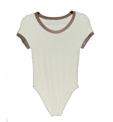 4th & Rose White Ringer Bodysuit