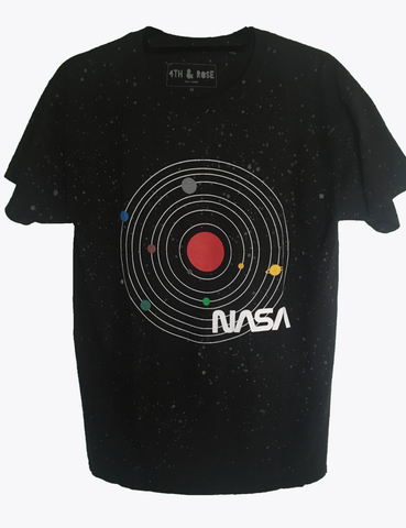 Glow in the Dark Splatter NASA Black Tee