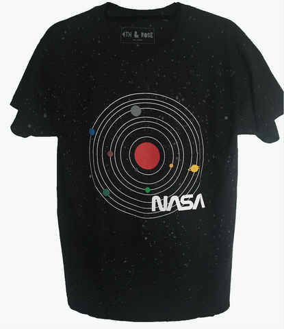 Black NASA Glow in the Dark Space Tee