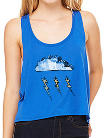 P. Witte Stormy Royal Blue Crop Tank