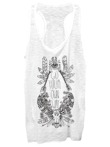 Bird Black Go Your Own Way Tank