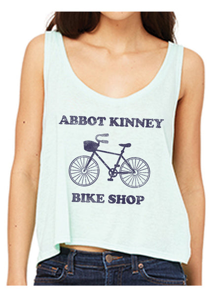 Abbot Kinney Bike Shop Mint Cropped Tank