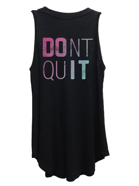 Don't quit mock neck black tank.
