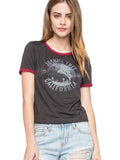 Joshua Tree California Charcoal and Maroon Ringer Tee