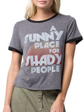 4th & Rose Shady People Charcoal & Black Ringer Tee