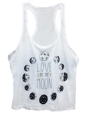 Birdblack Love By The Moon Crop Tank
