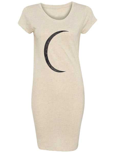 Half Moon Black on Ivory Tee Dress