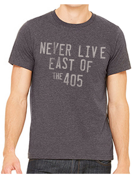 Never Live East of the 405 Charcoal Graphic Tee