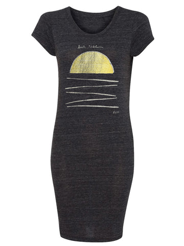 P. Witte Artwork Sun Rise and Sun Set Heather Charcoal Tunic Dress