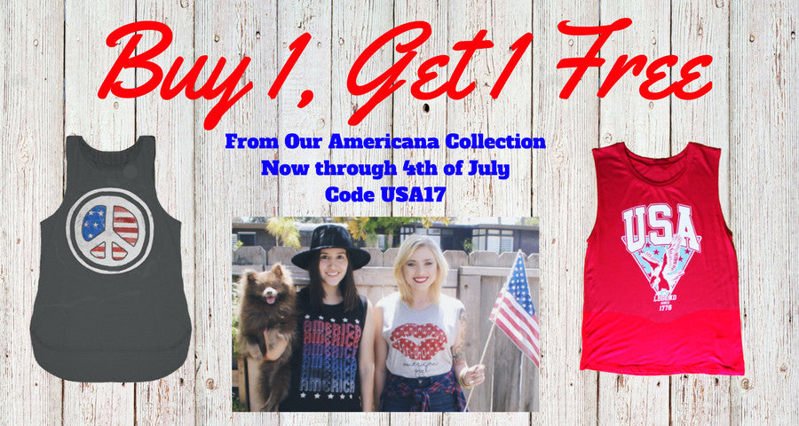 4th & Rose Buy 1 Get 1 Free Americana Collection 4th of July Code USA17