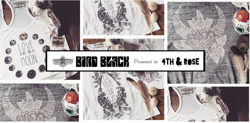 4th & Rose Bird Black Tees, Tanks, Dresses and Tote bags
