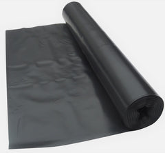 4 Metre Wide Black Polythene Sheeting 125 Micron / 500 Gauge
