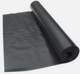 2 Metre Wide Black Polythene Sheeting 125 Micron / 500 Gauge