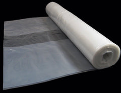 4 Metre Wide Clear Polythene Sheeting 250 Micron / 1000 Gauge