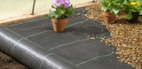 1 Metre Wide Weed Control Landscape Fabric Membrane Ground Cover - 100 GSM