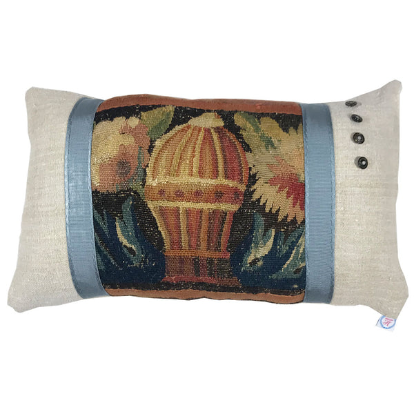 "13"" x 22"" 17th Century Tapestry Border Pillow"