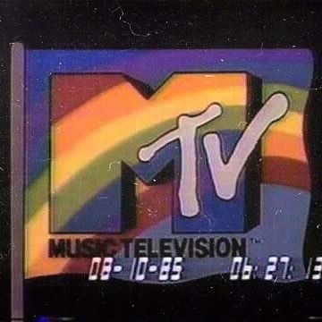 Vintage MTV image with a timestamp