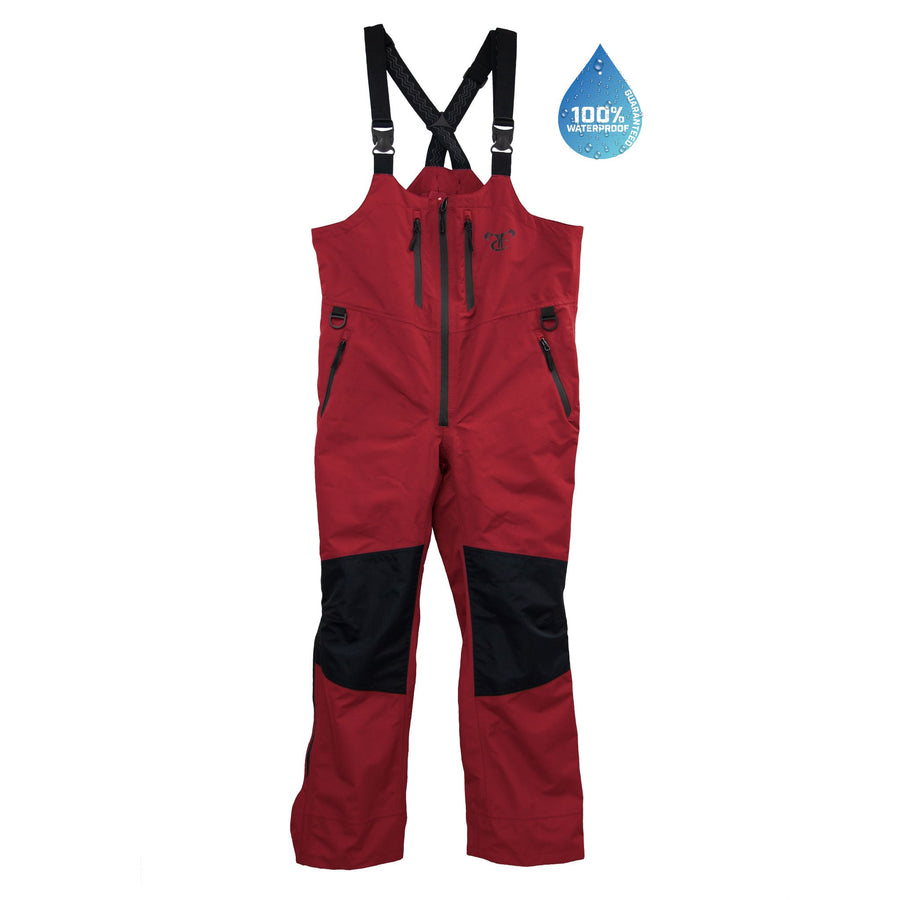 Waterproof WaveTamer Bib - Red Hot/Jet Black