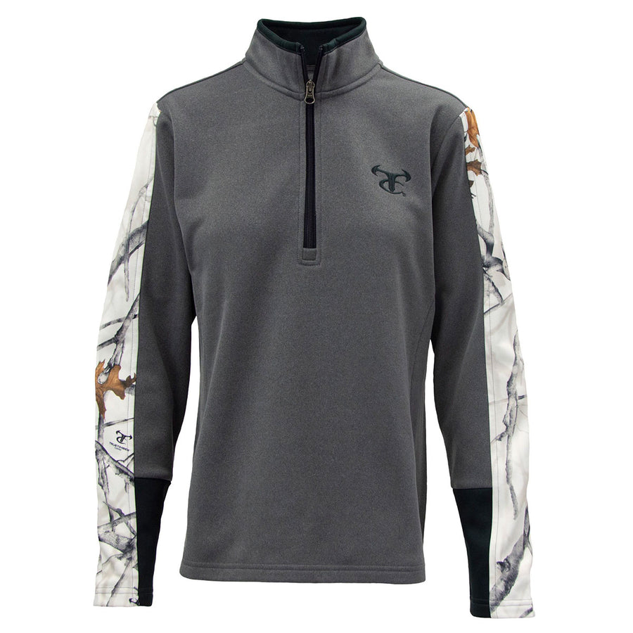 Ladies 1/4 Zip - Charcoal Gray