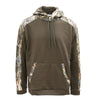 Performance Hoodie, Blank Front - Brown/DRT