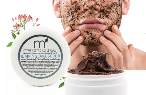 Our Jumping Java Natural GLA Facial & Body Scrub Mask & Wash Exfoliator For Men