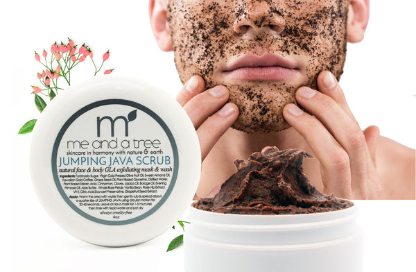 Jumping Java Natural Face Body Scrub Men