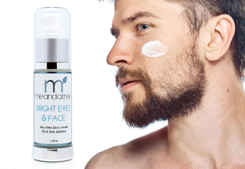 Mens Natural Organic Vegan Handmade Bright Eyes Face Cream With Zinc