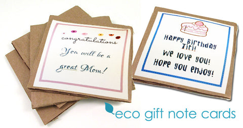 Free Special Custom Gift Note Cards