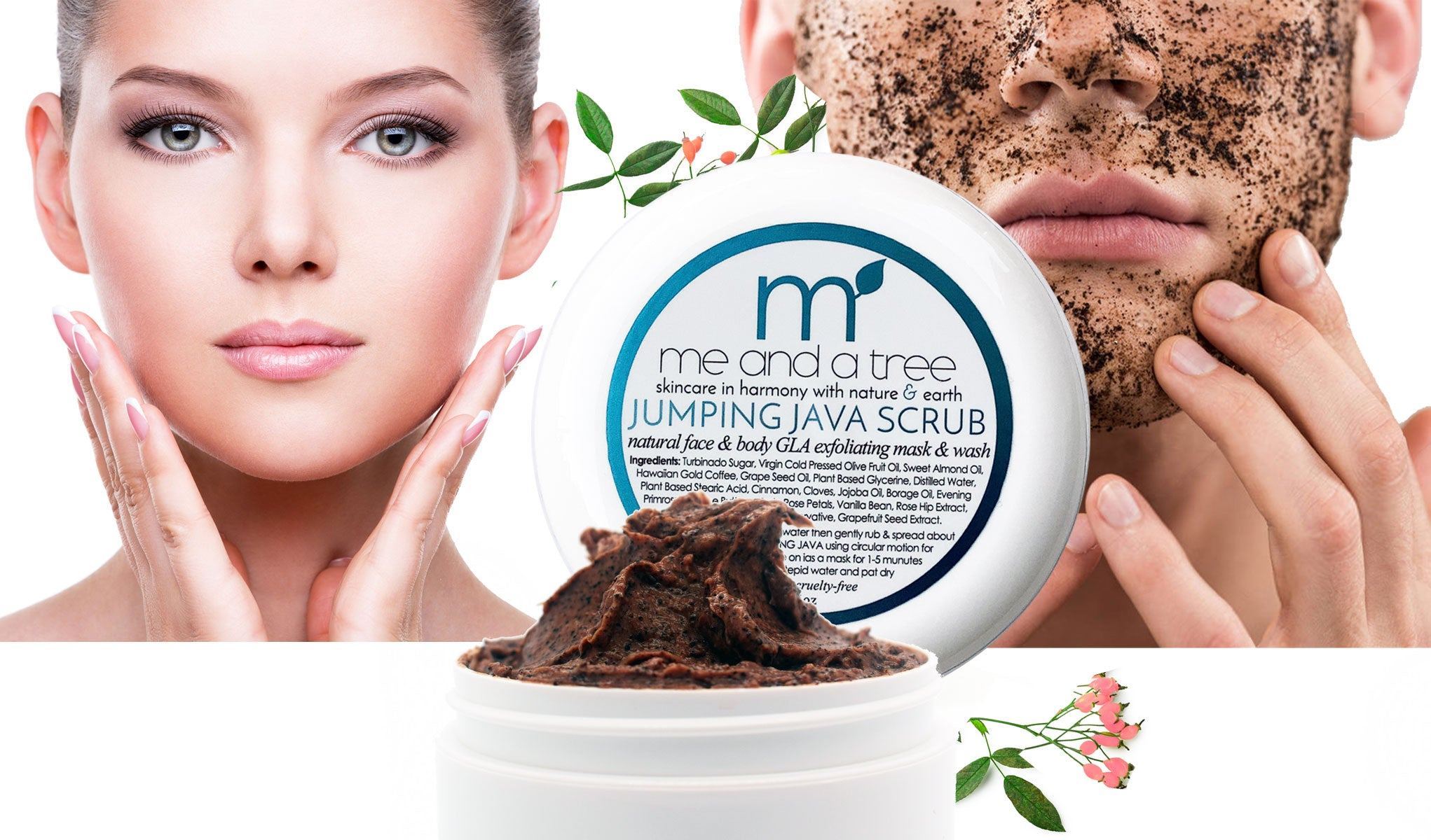 Best Face and Body Toning Jumping Java Natural Scrub For Women & Men