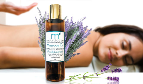 Best Pure Natural French Lavender Massage Oil For Intimacy Massage Calming Headaches