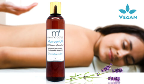 French Lavender Natural Massage Oil Pure French Lavender - me and a tree skincare