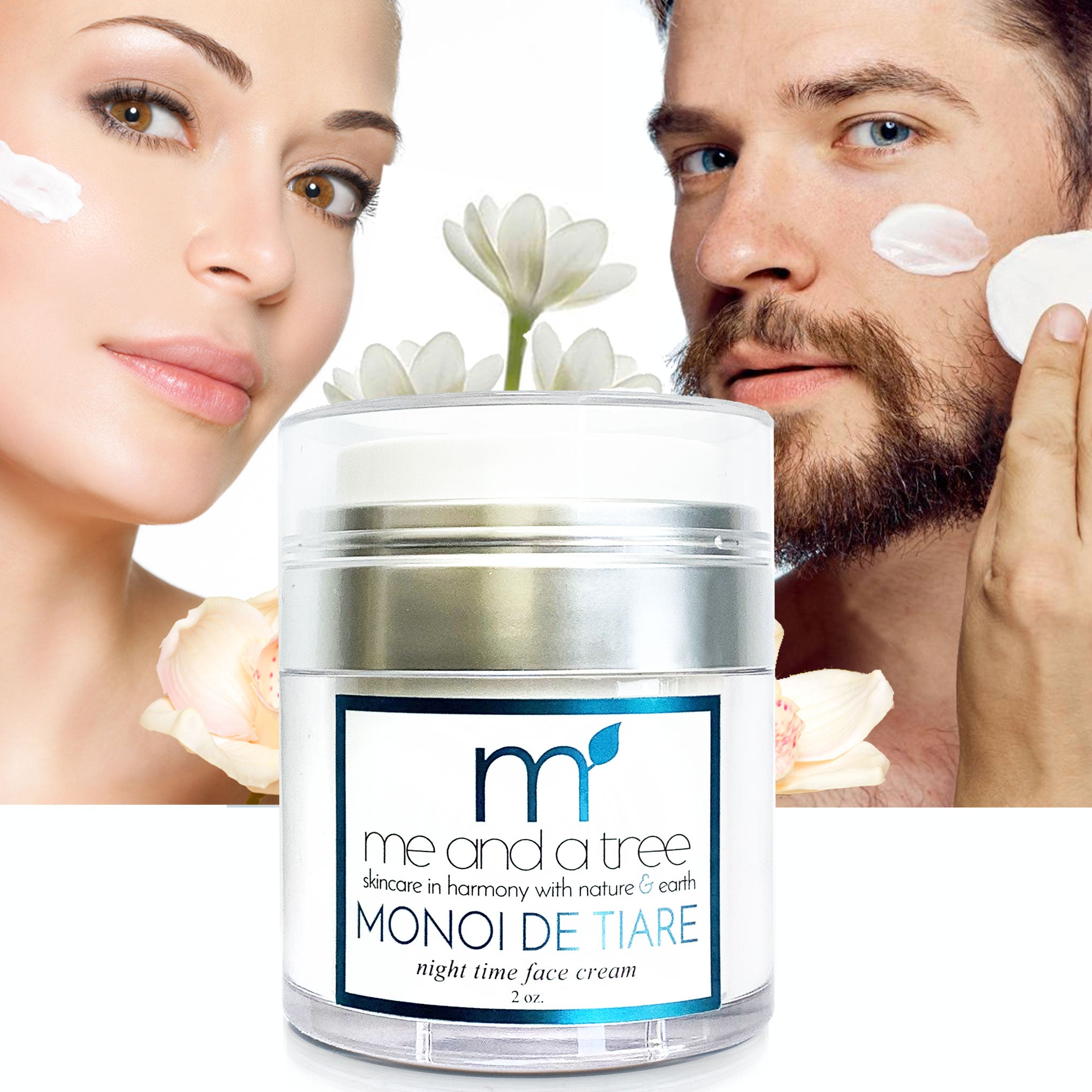 Monoi de Tiare Natural Vegan Night Cream Sensitive Skincare Me and a Tree Miami Florida