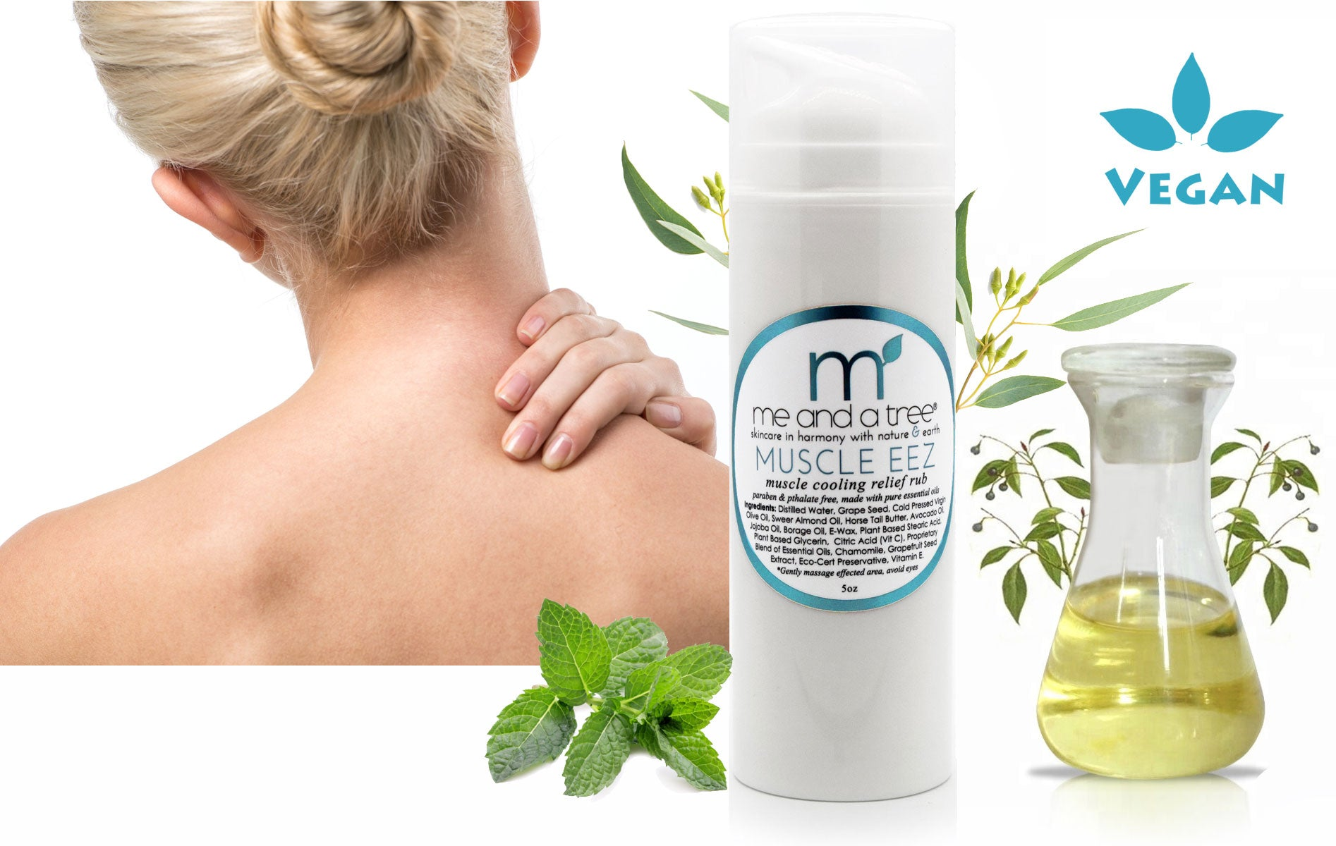 Best Natural Skin Care Muscle EEZ Recovery Relief Joint Rub