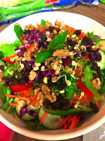 Michelle Basil Cashew Salad & Dressing Me and a Tree Skincare